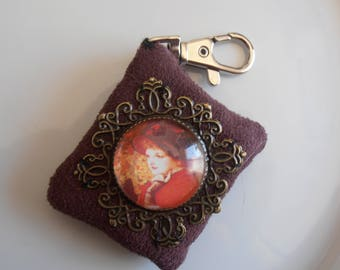Fragrant Keychain with Locket woman style late 19th