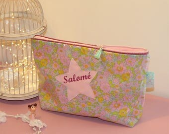 Toiletry bag personalized liberty coated Betsy Beryl