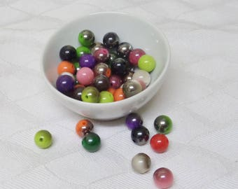Round magic Pearl glass 8 mm bracelet, necklaces