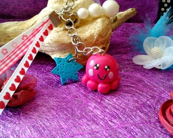 Jewelry bag or key ring Octopus