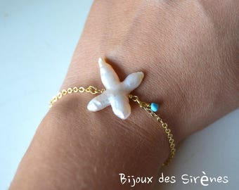 GOLD plated bracelet Freshwater Pearl