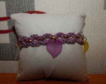 beautiful crochet cotton thread bracelet