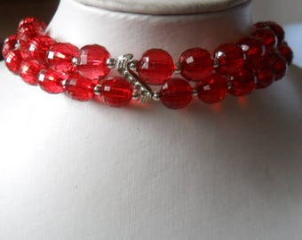 Red Collar and Strass