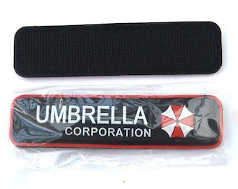 Umbrella Corporation Resident Evil 3D PVC Patch Military Armband Clothing Backpack Cap Badge