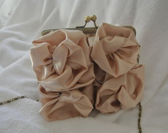 ceremony satin clutch bag