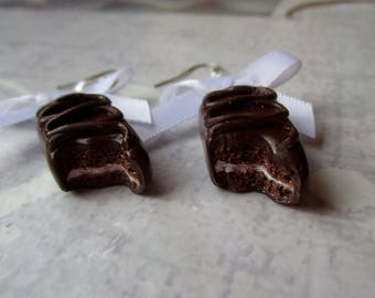 Earrings chocolate delight