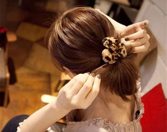 Amber Flower Ponytail Holder / Hair Rubber Band