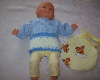 clothes for dolls, infants 30 cm, dress and headband, compatible tidoo, cuddly, n: 2