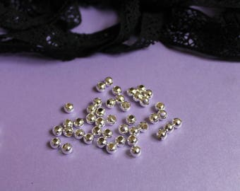 20 beads silver metal for making bracelets