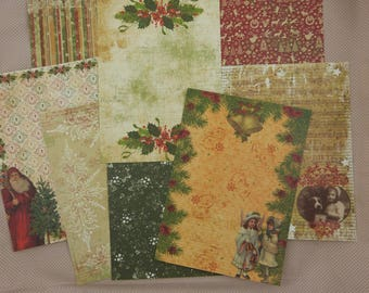 Assortment of vintage Christmas papers