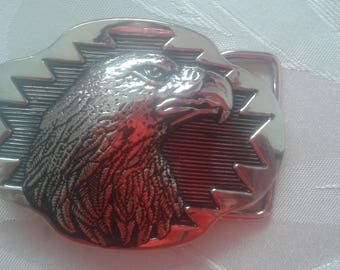 great silver Eagle belt buckle 8 x 6 cm