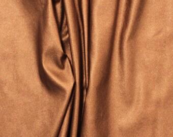 Metallic Copper Matte Faux Vegan Leather Fabric **UK Seller**