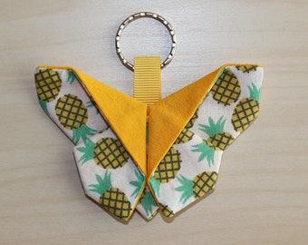 Origami - 9 x 6.5 cm - pineapple motif Butterfly key chain