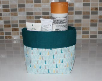Basket of bath - reversible - pattern triangle - washable