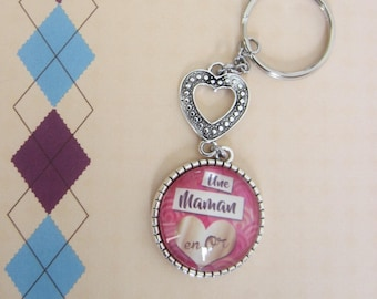 """Gift for MOM: """"A MOM in gold"""" keychain"""