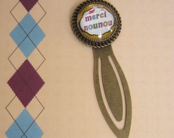 "Gift for nanny/nursery Assistant: ""Thank you nanny"" bookmark"