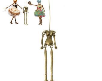 1 pendant doll articulated create 11.5x1.8 cm