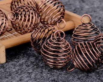 10 spiral cages bronze 25 mm within 15 days