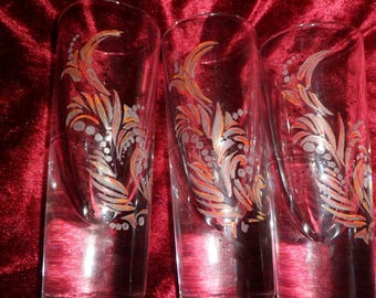 tumblers engraved and painted modern design