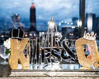 Mr. & Mrs./ King and Queen Personalized Head Table Decor