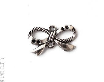 "9 charms ""bow 3"" - antique silver"