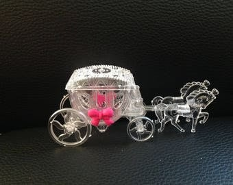 """Wedding: candy box for sweets """"Princess carriage"""""""