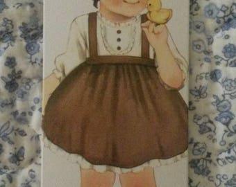 Card tag / girl vintage scrapbooking