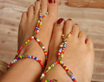 Foot jewelry colorful beads Lena