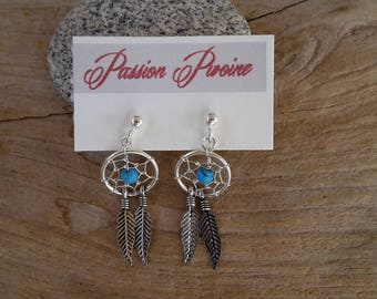 """Earrings """"Dreamcatcher"""" 925 Silver and turquoise"""