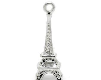 1 charm 24x8mm Eiffel Tower Charms pendant