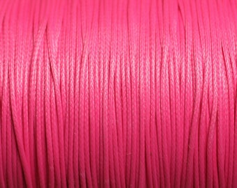 10 m - 0.8 mm 4558550015914 neon pink waxed cotton cord