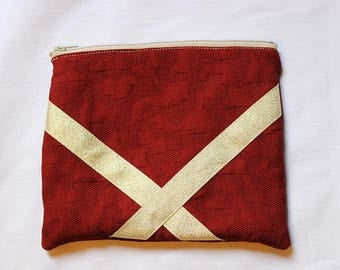 Mila pouch red and gold
