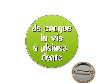 Badge croque I Ø25mm pin toothy life