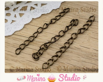 25 bronze 50x3mm n17474 extension chainette