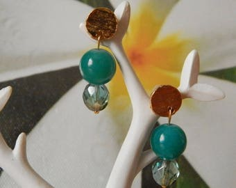Green River Stud for pierced ears in thin layers of plated gold