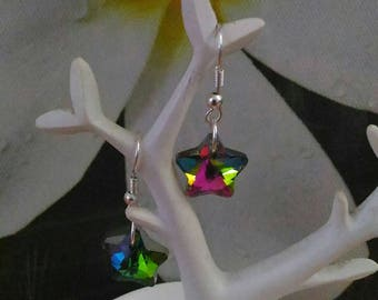 Rainbow stars earrings