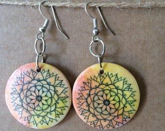 Mandala earrings 1