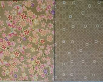 Set of 2 patchwork /quilting fabrics