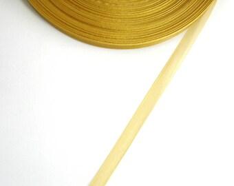 5 mètres de ruban d'organza 10 mm couleur PAILLE