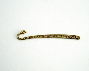 "Bookmark ""closed hand"" ANTIQUE gold color"
