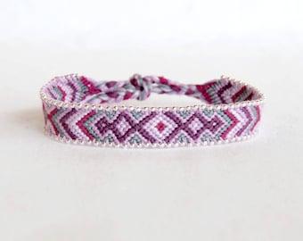 Brazilian purple gray String Bracelet beads hippie fashion women bracelet woven cotton geometric Brasilda