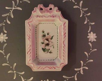 Small tray porcelain romantic decor