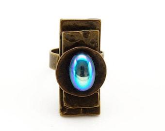Small ring long KARLA bronze essence