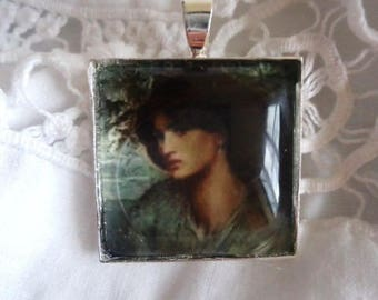 """Cabochon """"portrait of ' after Rossetti""""-for your creations"""