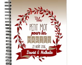 A5 notebook with hardcover personalized