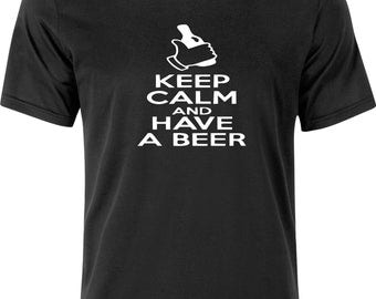 Keep calm and have a BEER funny humour gift present christmas 100% cotton t shirt