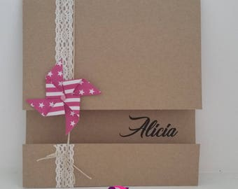 Birth announcements theme mill to wind