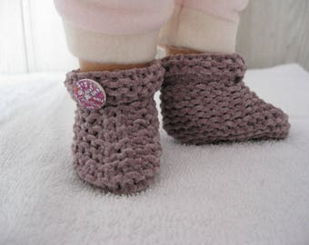 soft baby booties