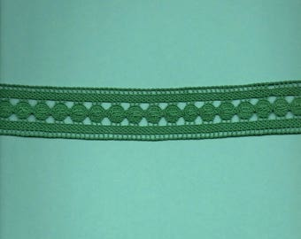 Green cotton in-between 4.5 cm wide (stranded 701)