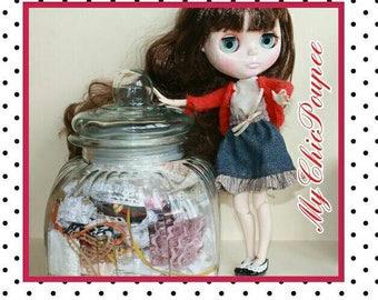 Set BLYTHE, MOMOKO, dolls scale 1/6